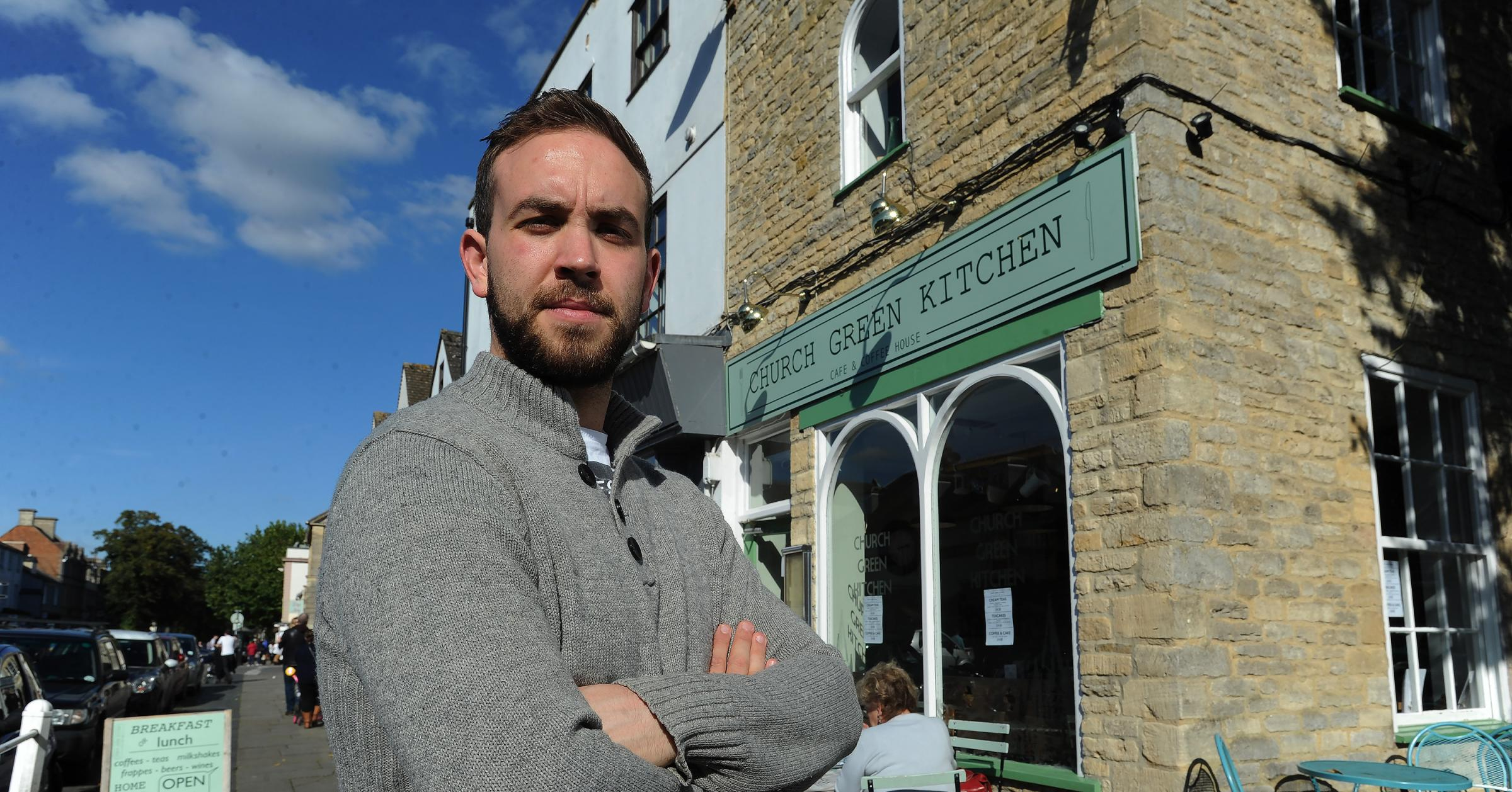 The Church Green Kitchen has been burgled again. Pictured is manager Andrew Brewer. Picture by Jon Lewis