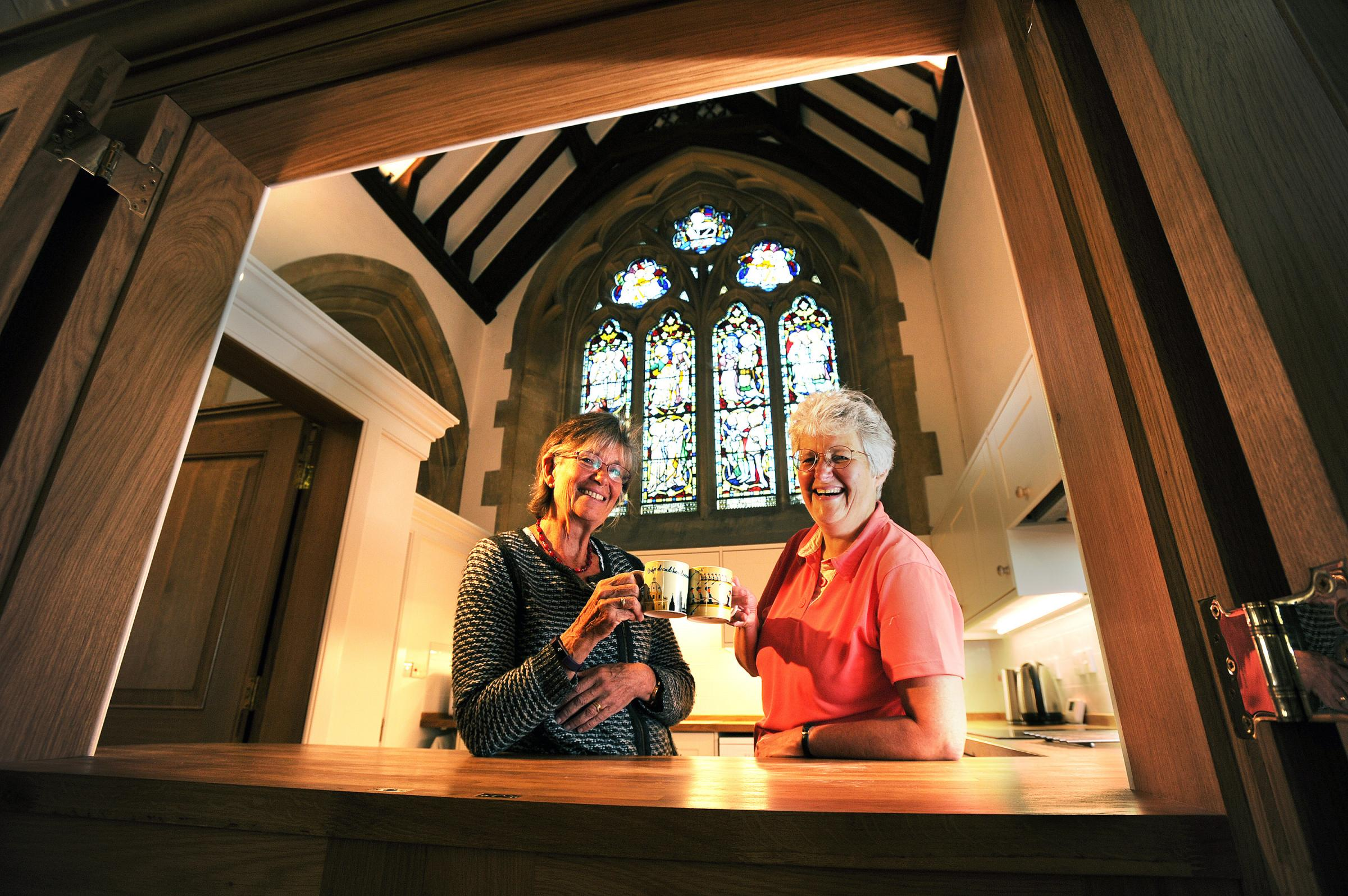 Churchwardens Joy Browning, left, and Nicola Turner. Picture: Jon Lewis