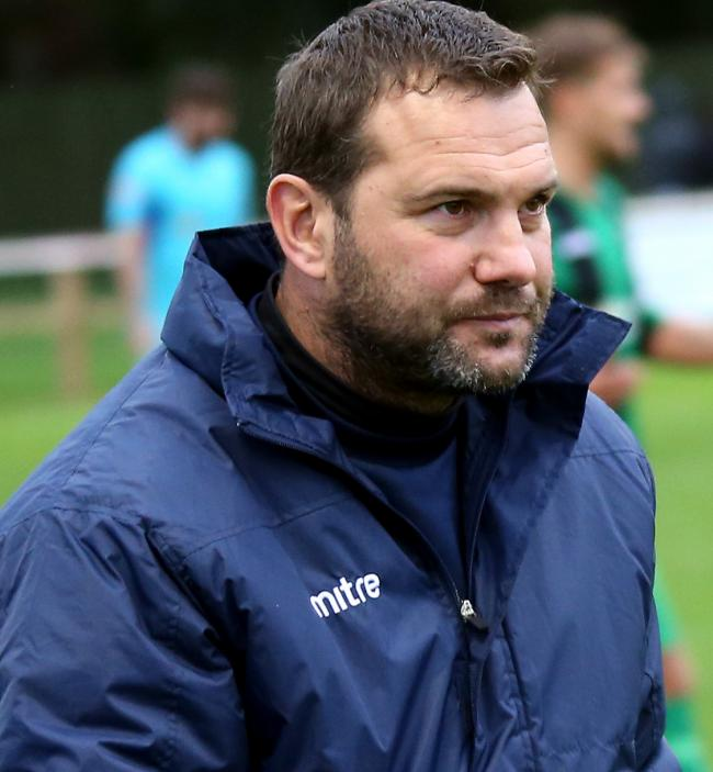 North Leigh manager John Brough was on the bench for their midweek match against Swindon Supermarine