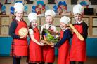 Children from Williamsburgh Primary School are ready for the Paisley Food and Drink Festival (Nick Ponty/Paisley Food and Drink Festival/PA)