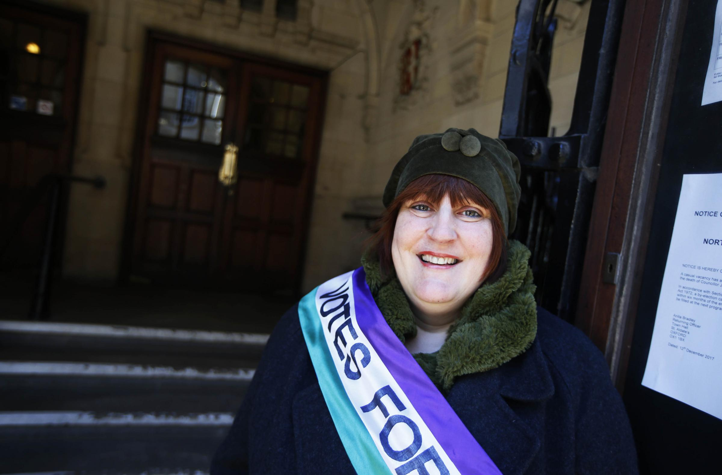 KEEPING SUFFRAGETTE SPIRIT ALIVE: Tracy Walsh is among the activists who has been included in Amnesty International's new map, which includes about 250 women