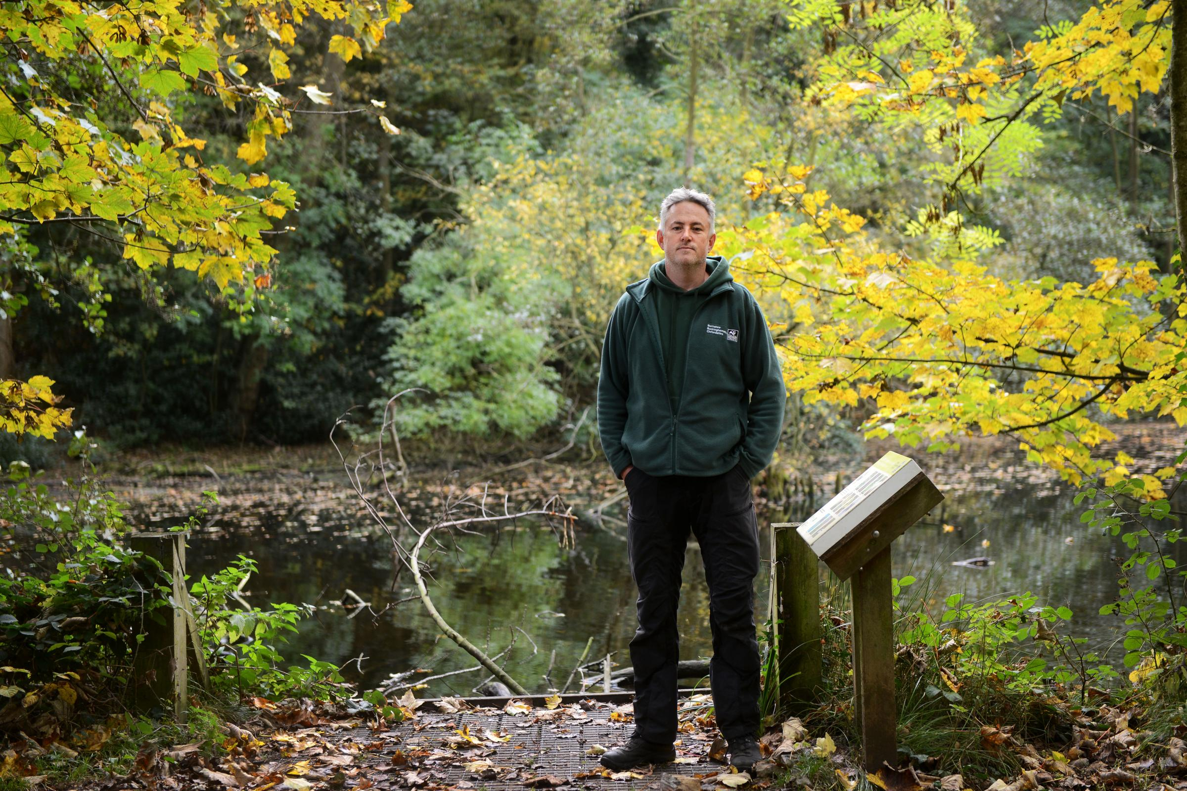 BBOWT's Mark Bradfield at the CS Lewis Nature Reserve in Oxford. Picture: Richard Cave
