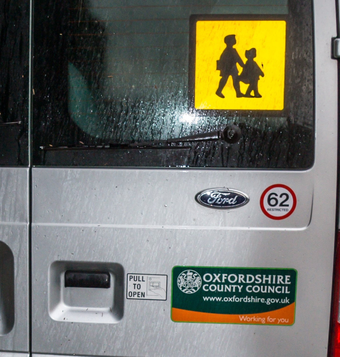 Oxfordshire County Council school minibus. Pic: Greg Blatchford