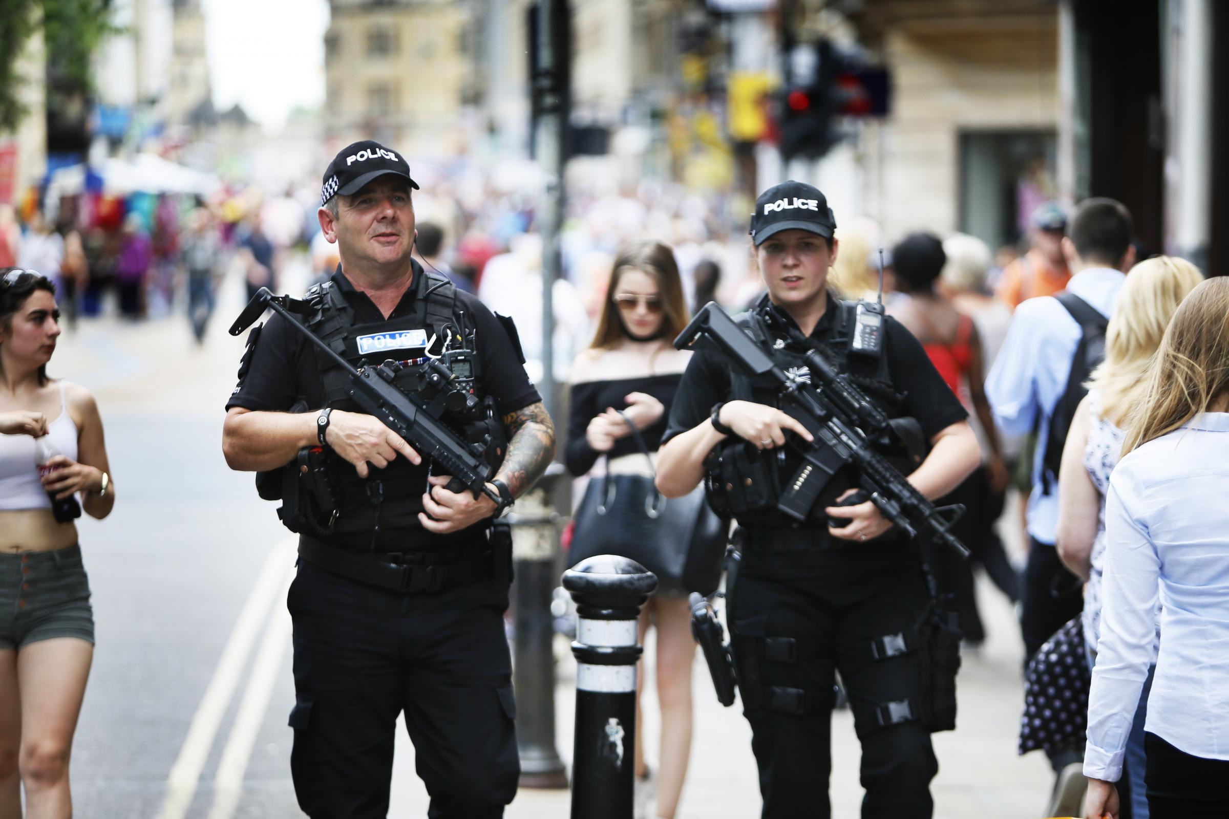 Armed police on the streets of Oxford last year. Picture: Ed Nix