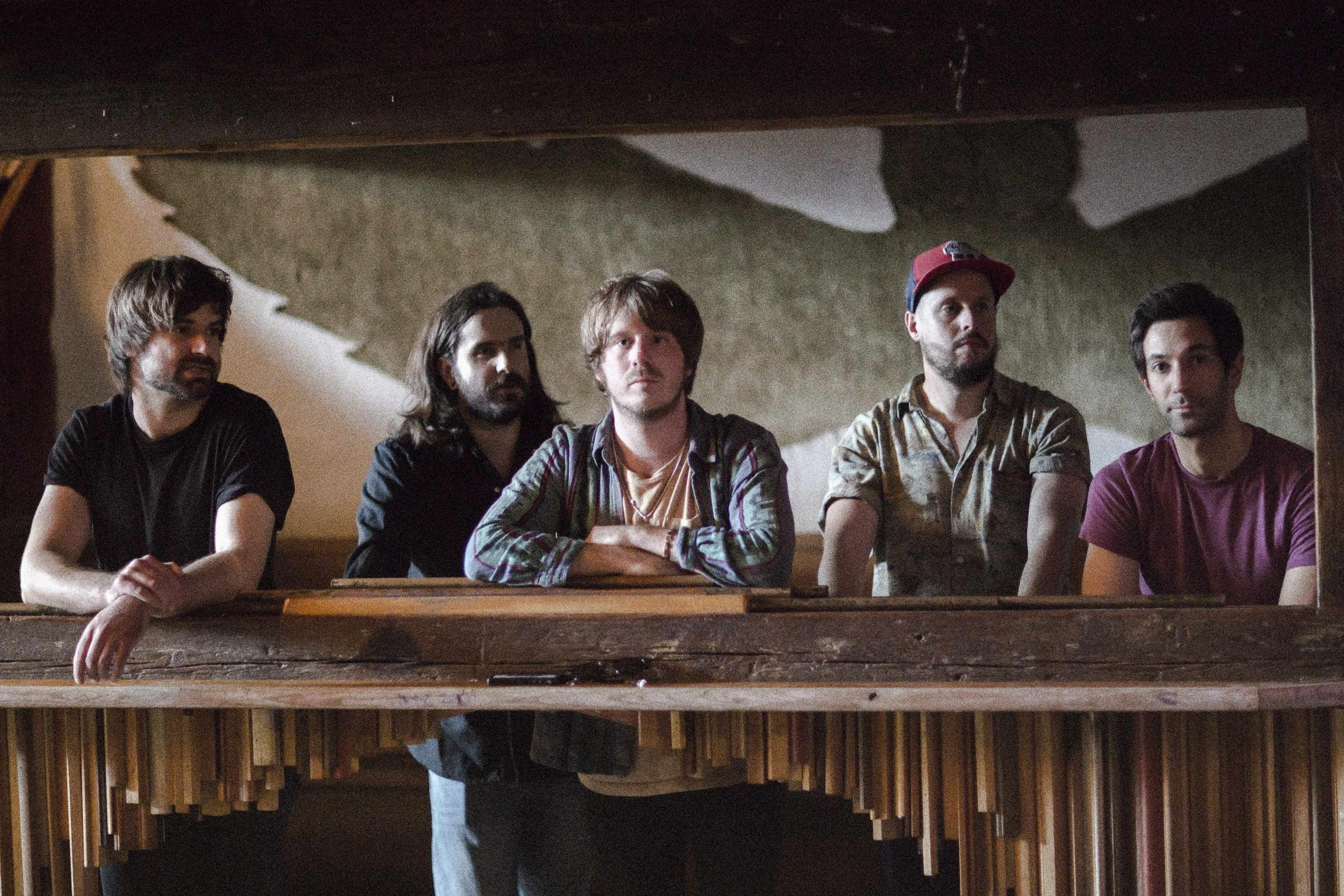 Country boys: Treetop Flyers play the wooden stage