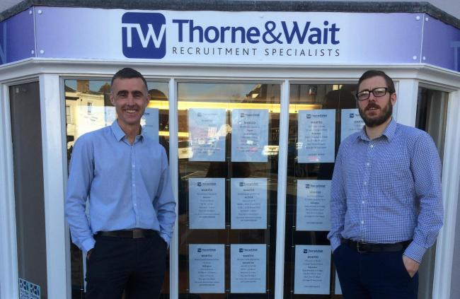 Steve Thorne and Wesley Wait have moved their recruitment agency to Bicester. Pic Thorne and Wait
