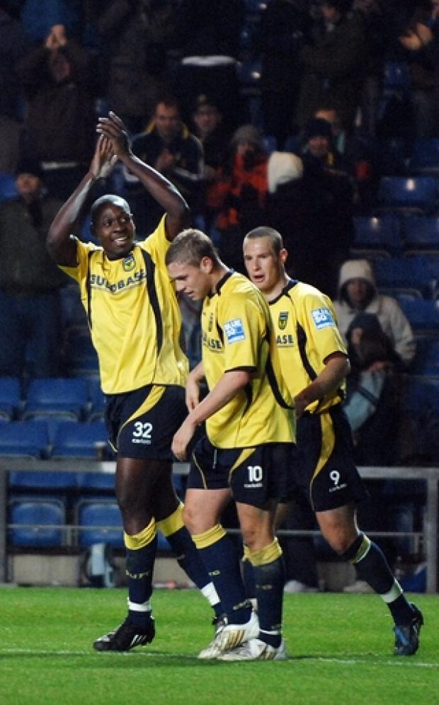 Banbury Cake: Ricky Sappleton celebrates scoring on his United debut