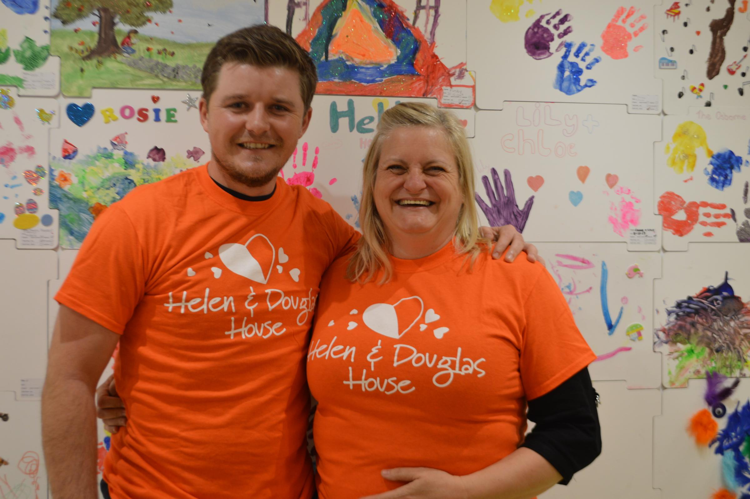 Eddie Pepperell with Alison Stone at Helen & Douglas House,