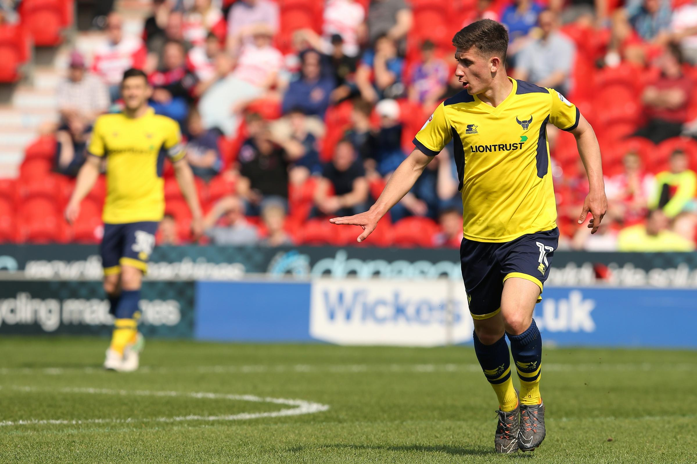 MISSION: Cameron Brannagan is hoping Oxford United finish the season in style Picture: James Williamson