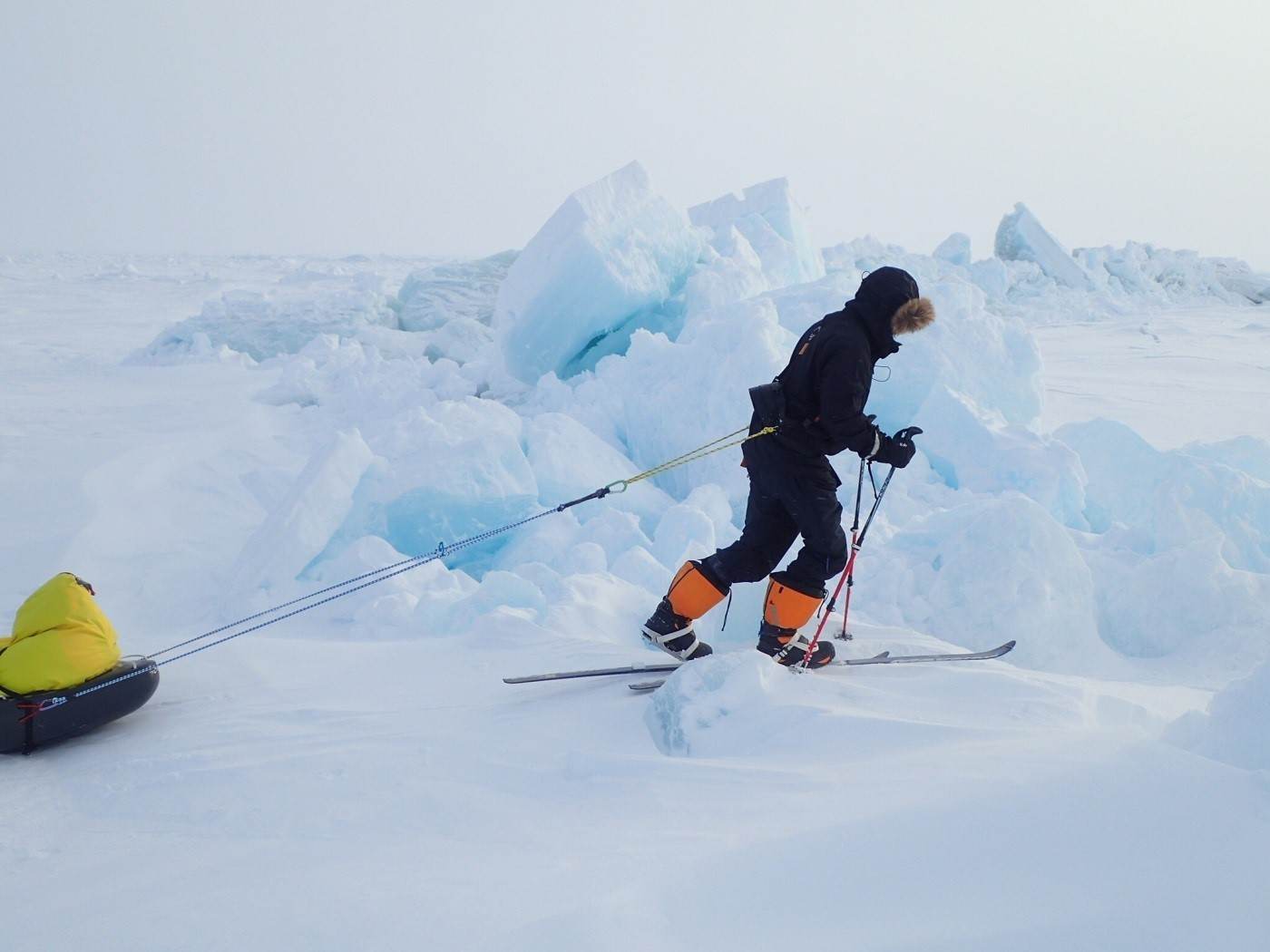 ADVENTURER: James Redden from Thame is skiing across Greenland