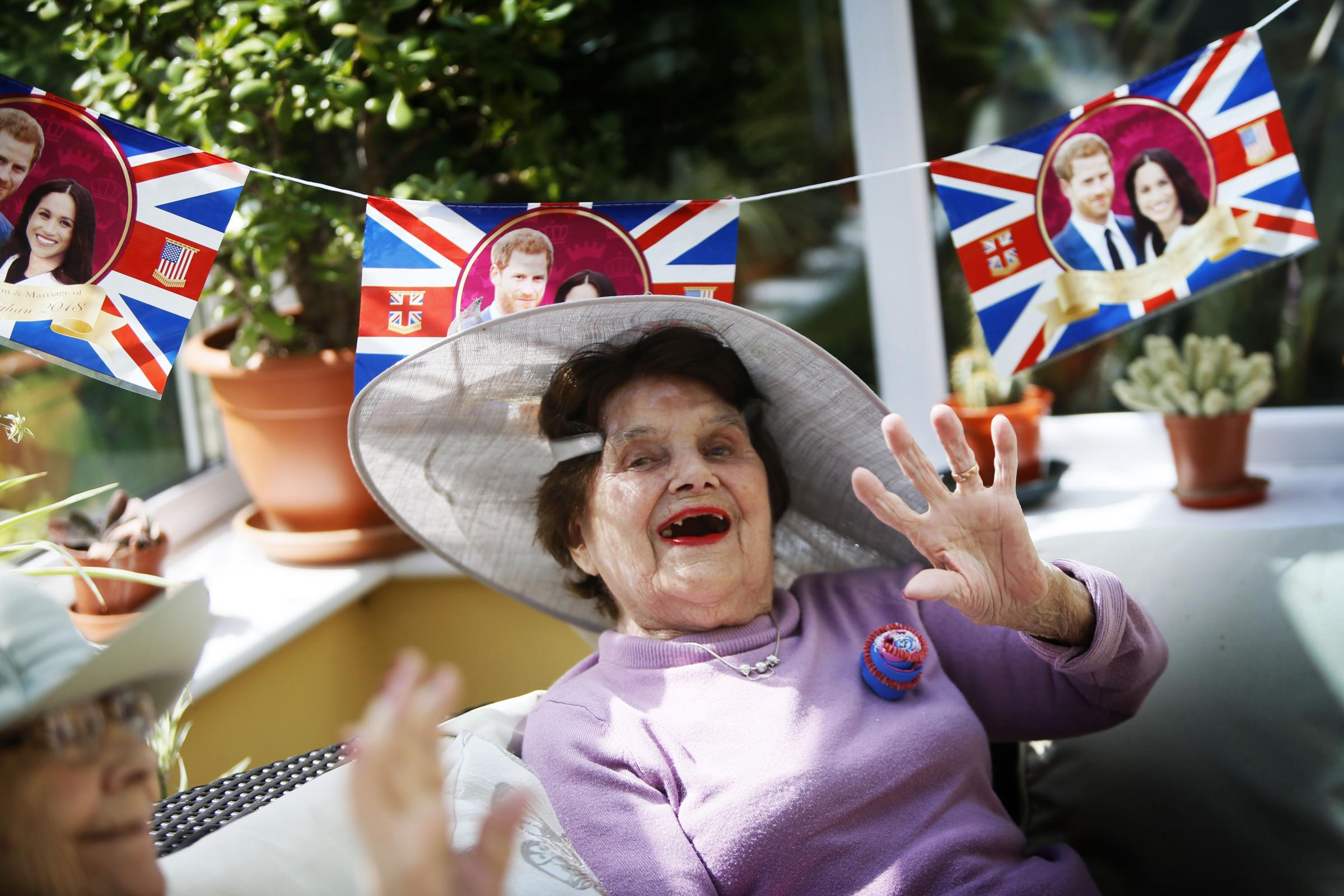 Residents at the Wantage Nursing home celebrating the royal wedding. 