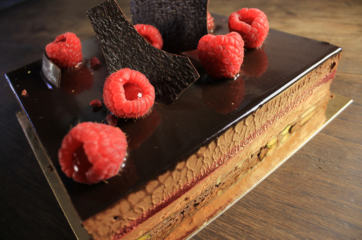 Chocolate framboise made by Oxford's Gatineau patisserie. The company was one of the winners in this year's Great Taste awards. Picture: Gatineau/ Debora Brand
