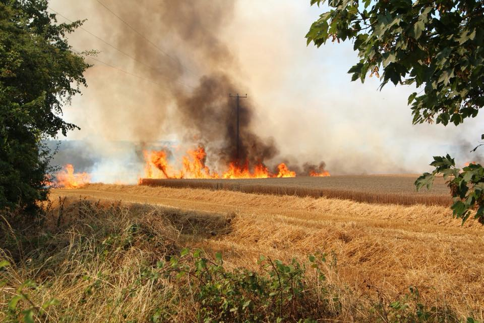 Fire crews called to battle two huge blazes over weekend