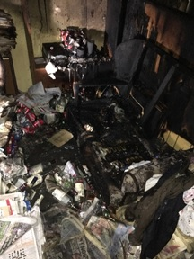 DEVASTATION: The flat after the fire. Picture: Oxfordshire Fire and Rescue Service