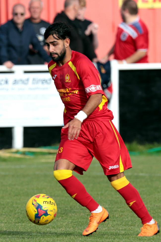 Ravi Shamsi scored a hat-trick for Banbury United against Bedworth Picture: Ric Mellis