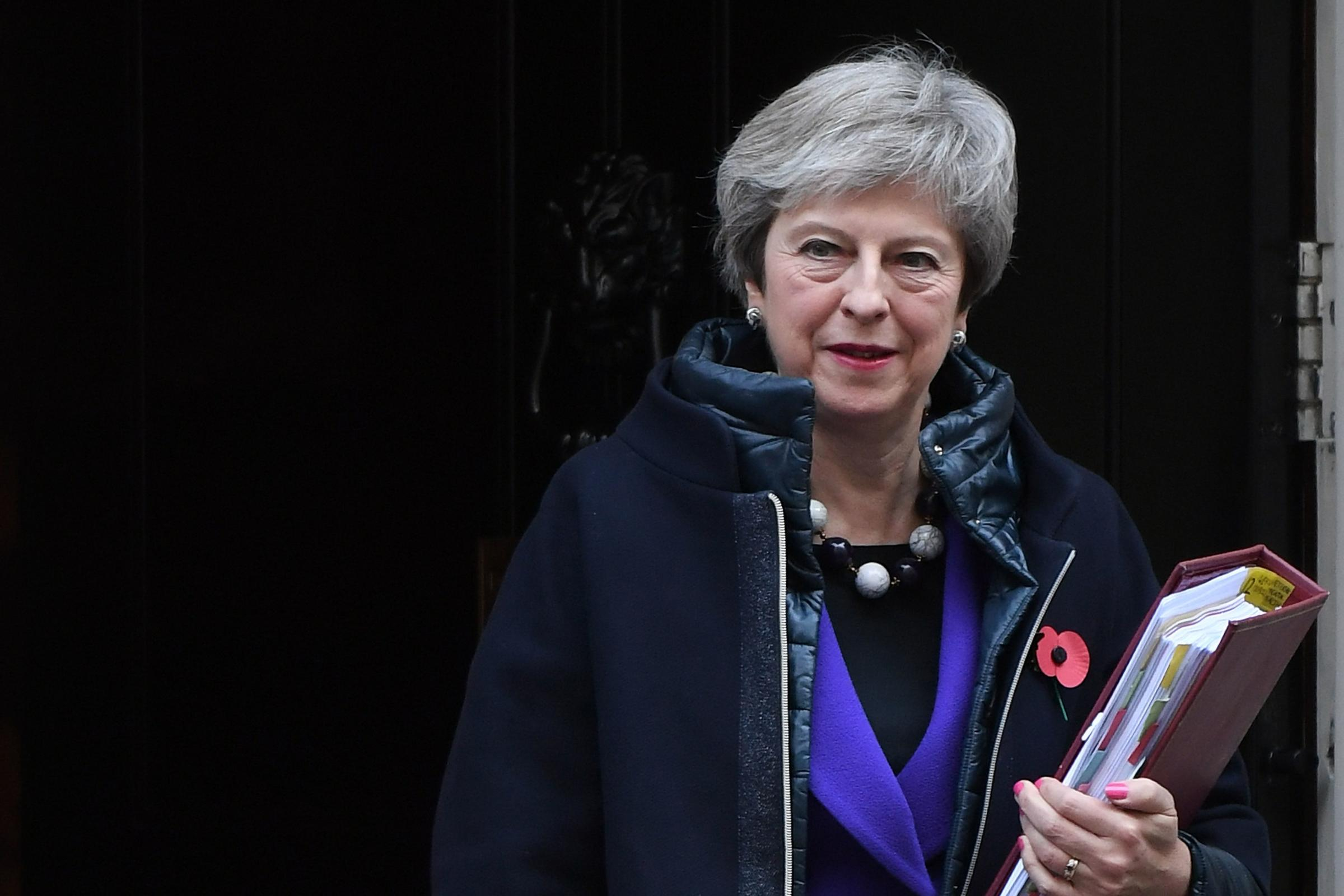 May says Brexit talks are down to a 'small number' of outstanding issues