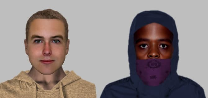 Police released this e-fit of the two suspects as described
