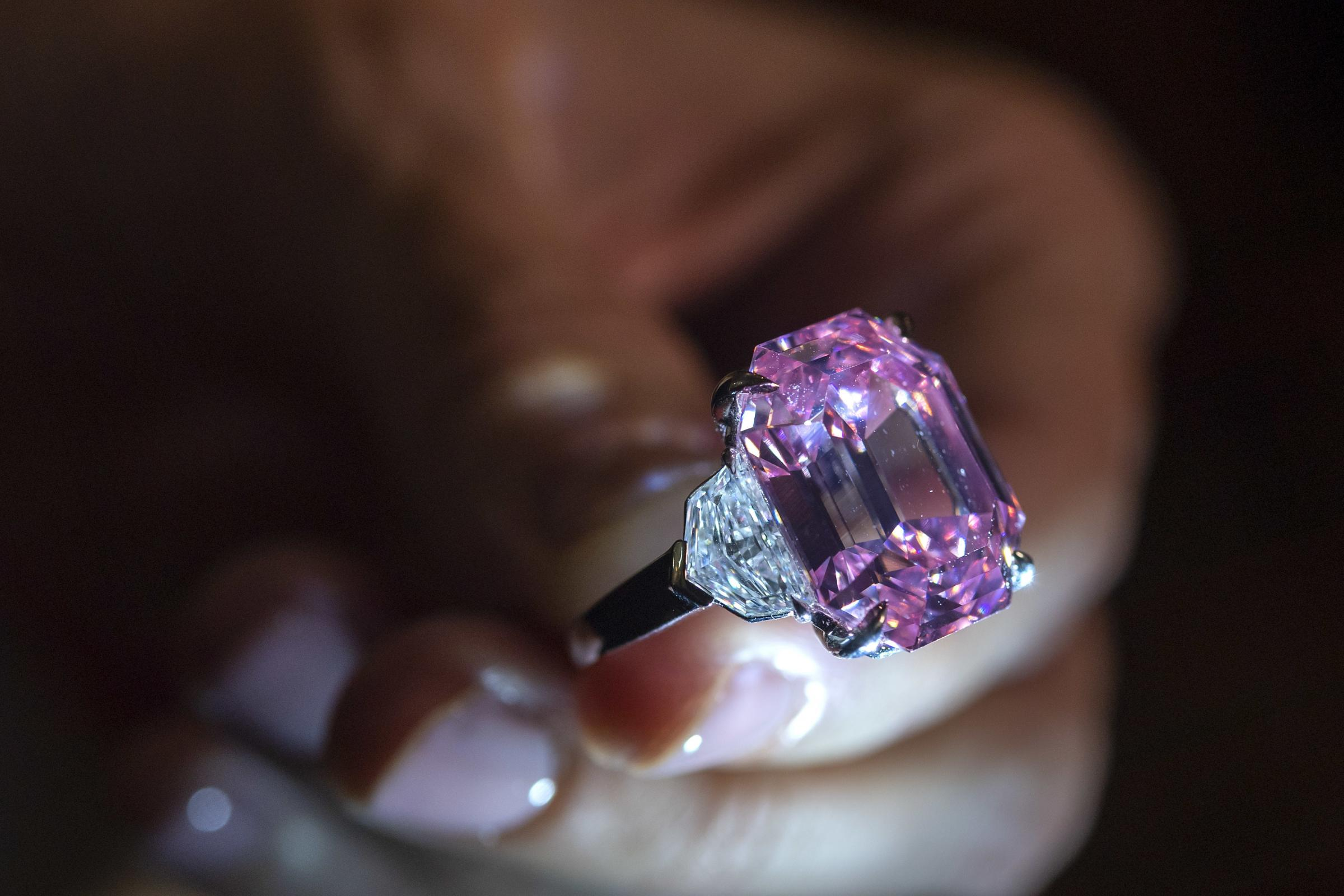 Pink diamond sells for more than 50m dollars to set 'new world record'