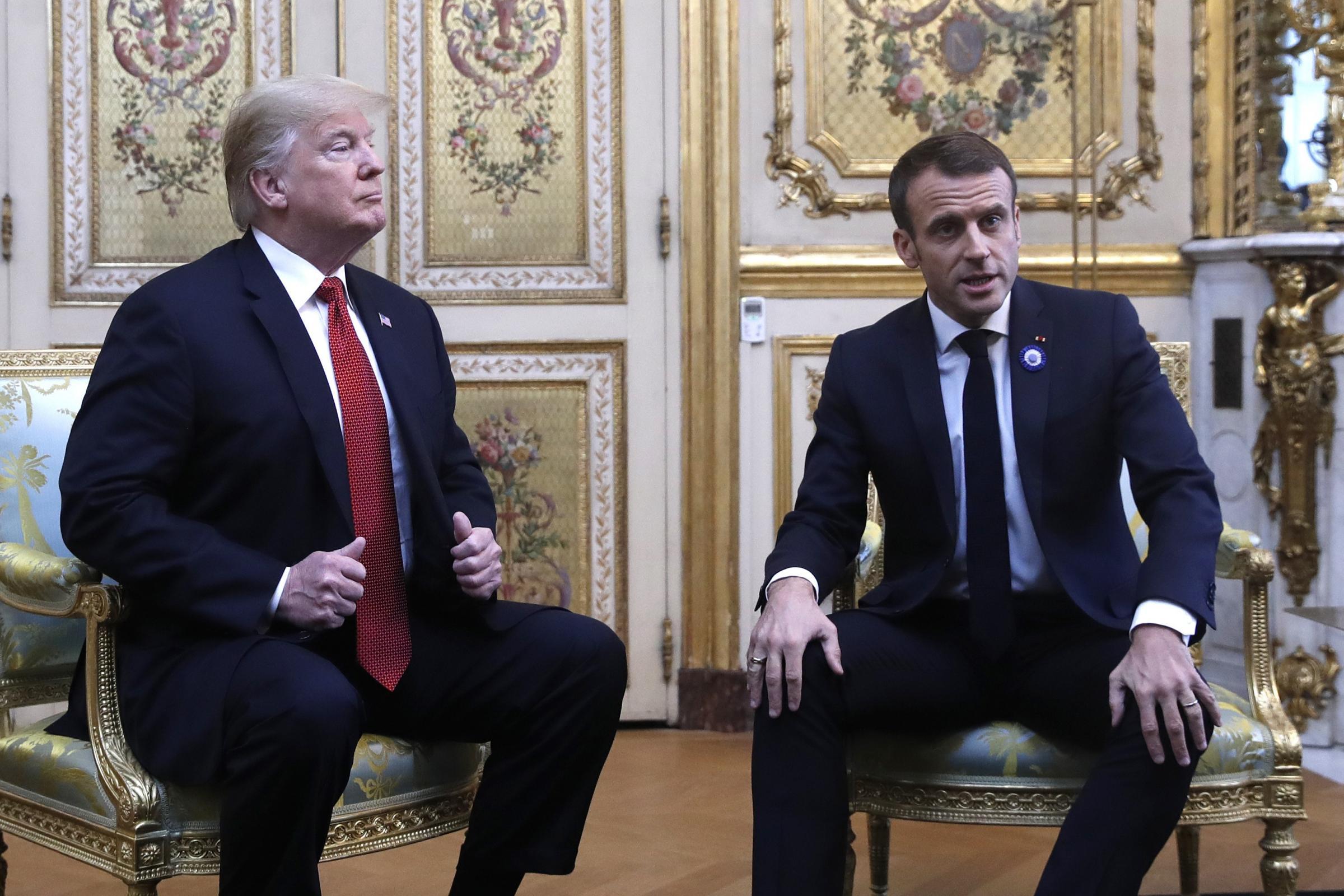 France hits back after Donald Trump's Twitter tirade at Emmanuel Macron