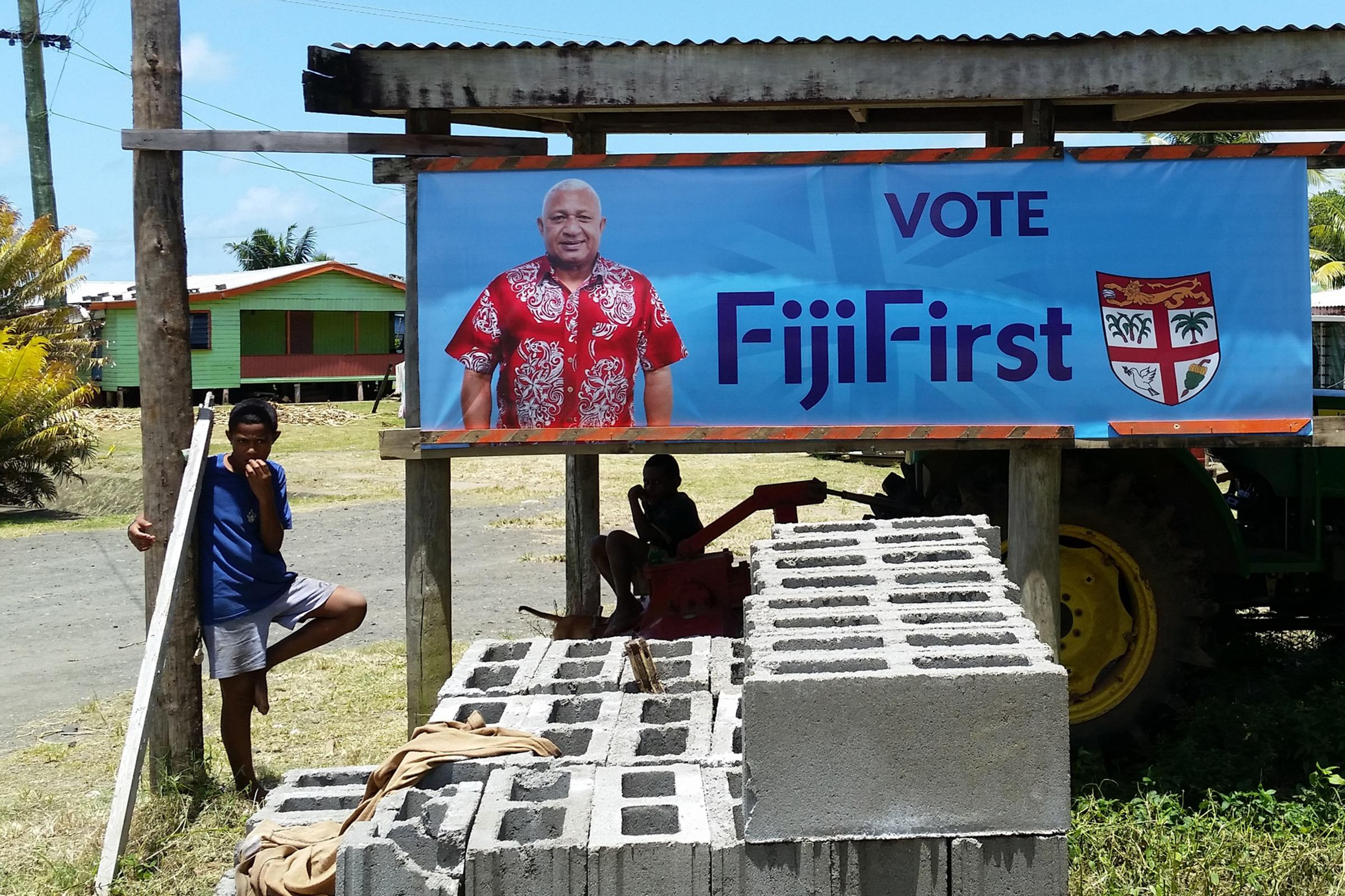 Fiji's strongman leader set to win four more years in power