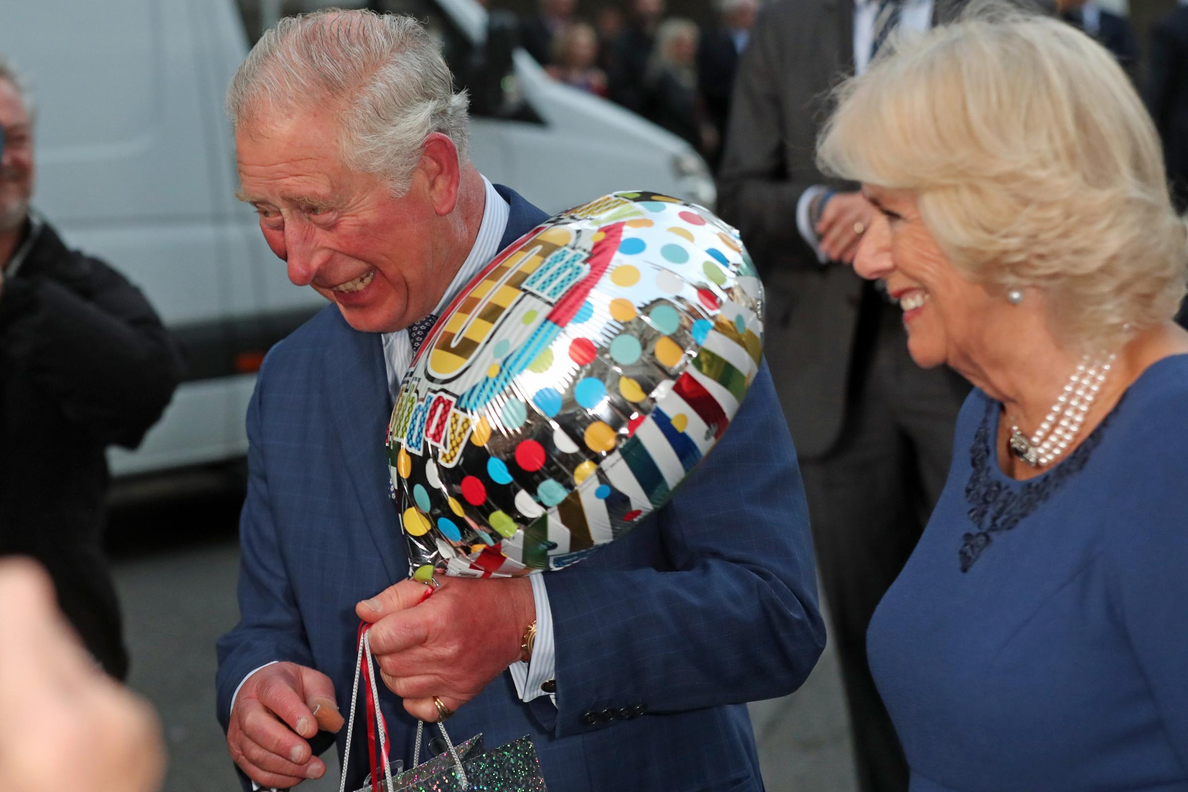 Prince Charles celebrates 70th birthday with 70 septuagenarians