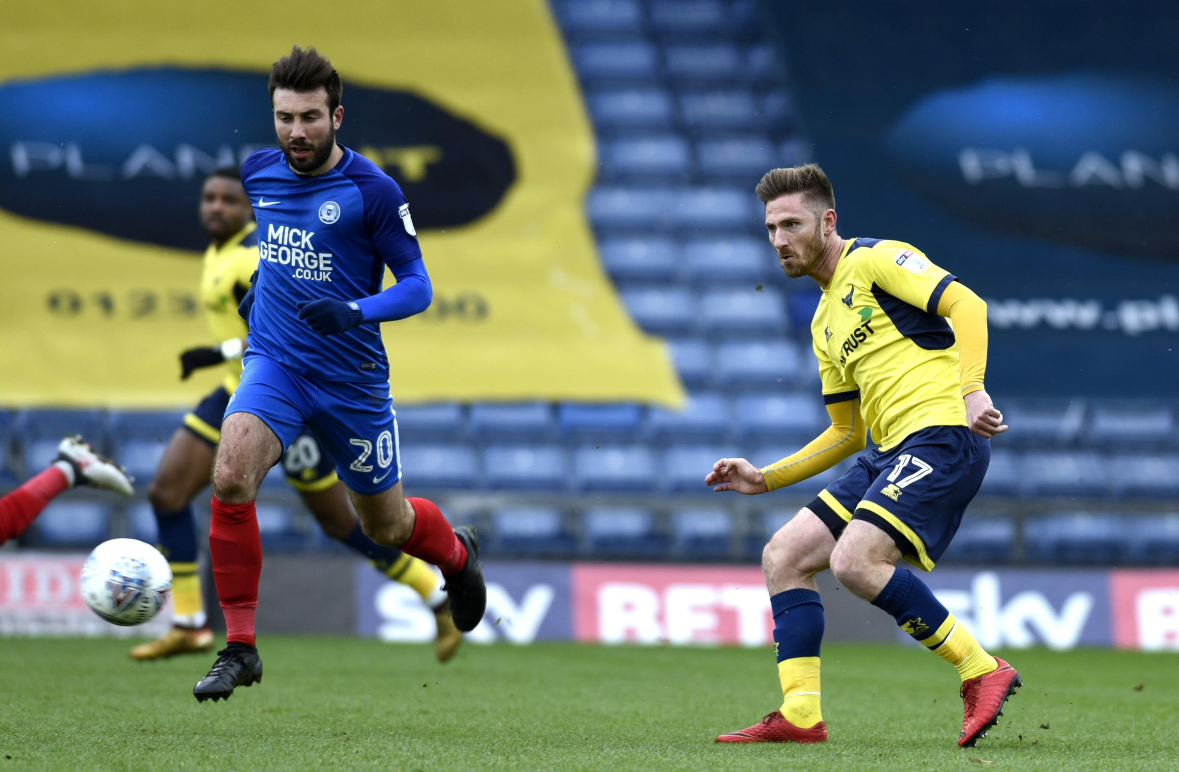 James Henry in action during Oxford United's win against Peterborough United in March  Picture: David Fleming