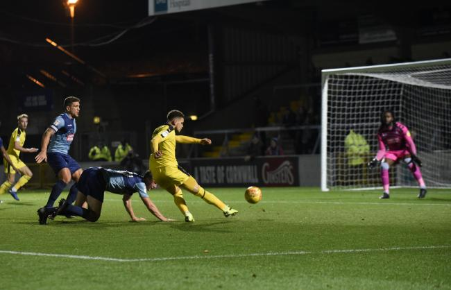 Marcus Browne scores in the group stage win at Wycombe Wanderers  Picture: David Fleming