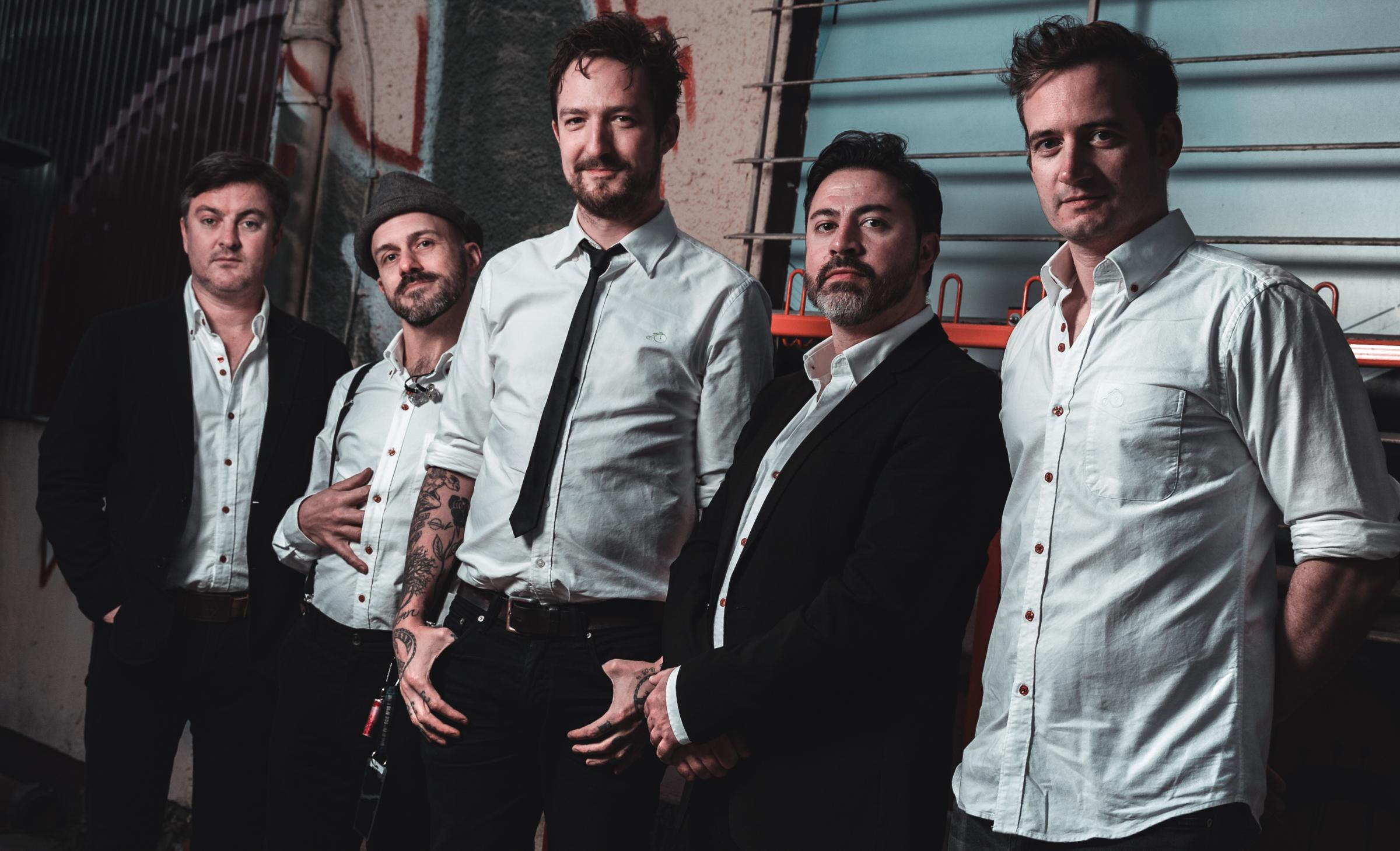 Frank Turner and band                Picture: Lukas Rauch