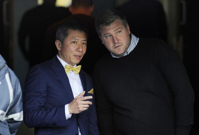 Oxford United owner Sumrith 'Tiger' Thanakarnjanasuth (left) with head coach Karl Robinson    Picture: David Fleming