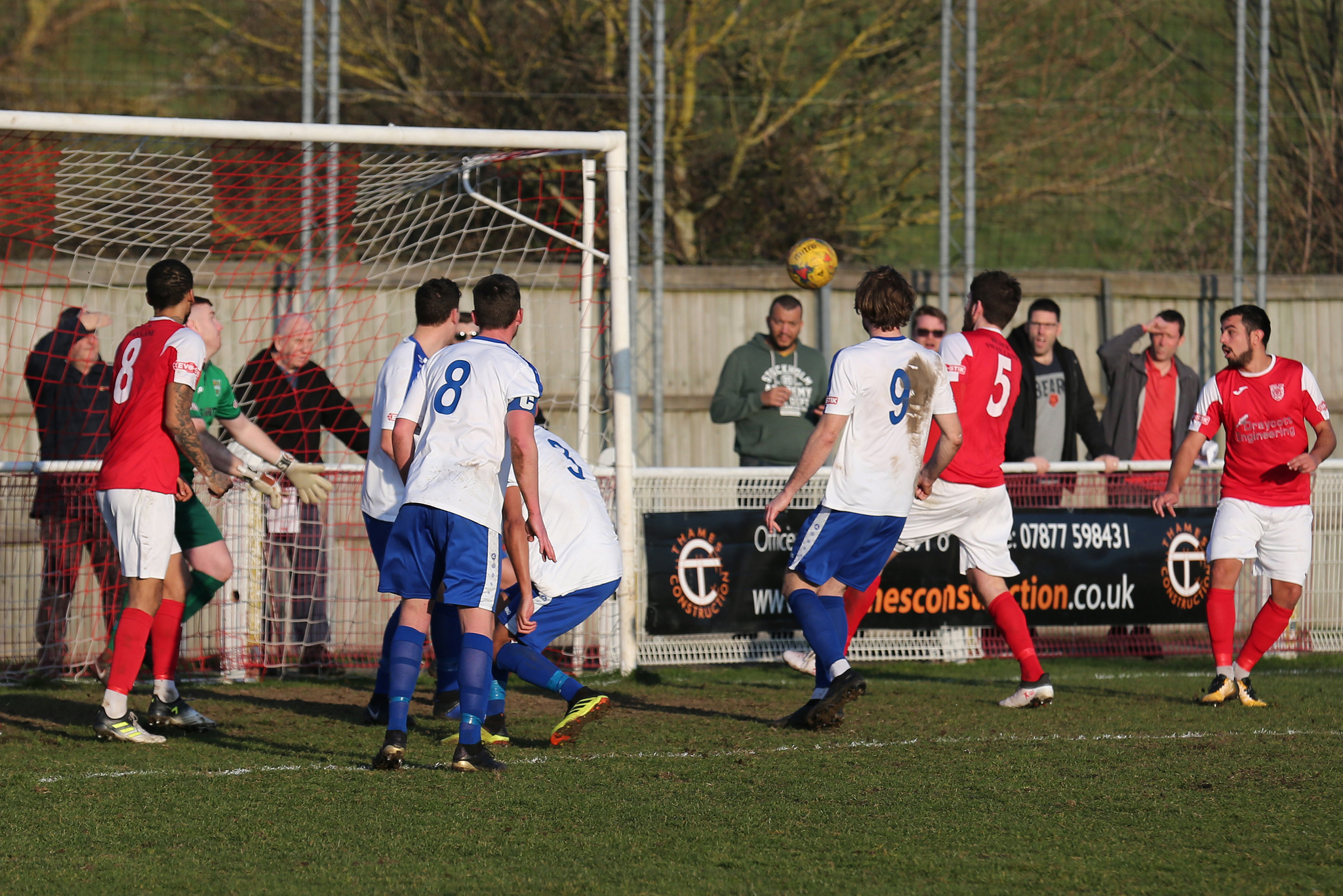 Luke Carnell (No 5) scores to give Didcot victoryPicture: Roger Neal