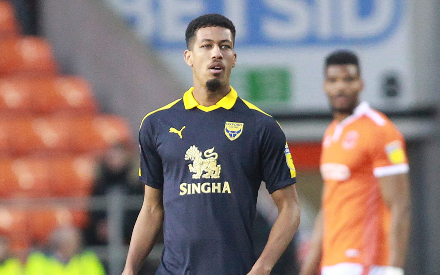 Jonte Smith put Oxford United ahead before Oxford City's fightback   Picture: Richard Parkes