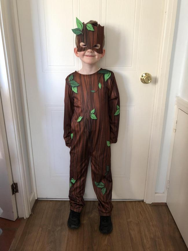 My son Noah Toovey as Stickman