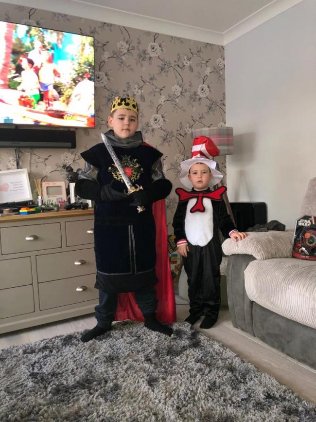Harry and Billy world book day at west Kidlington school