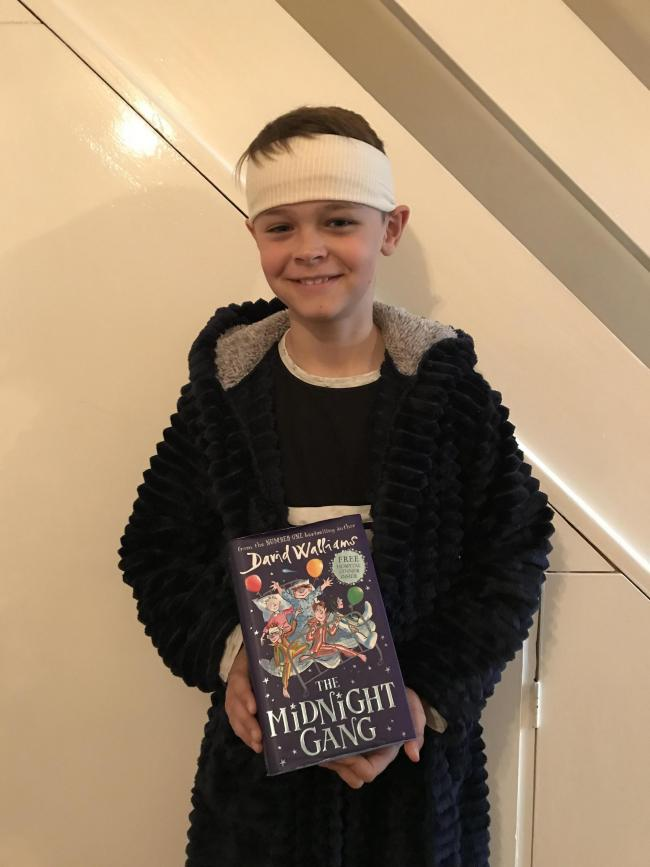 Alfie Weston Age 9 as Tom - The Midnight Gang