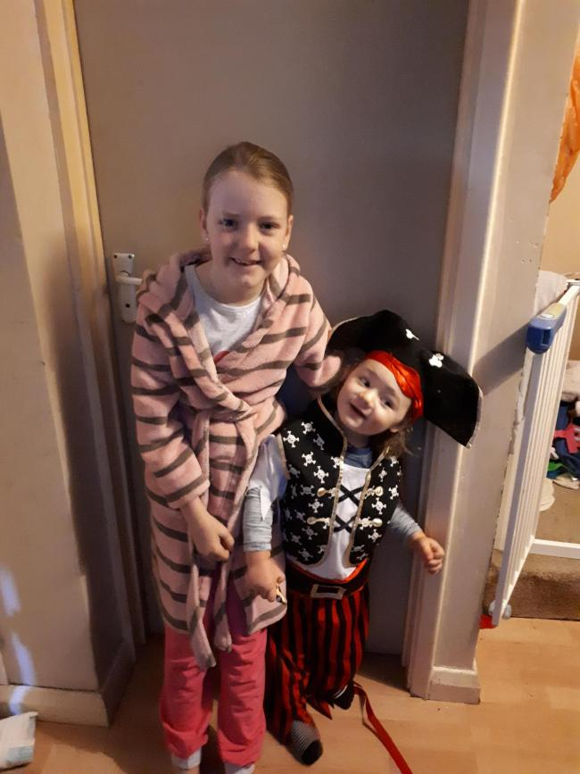 Freya Hill 8 years as polar express. Albie Hill 2 years as a pirate.