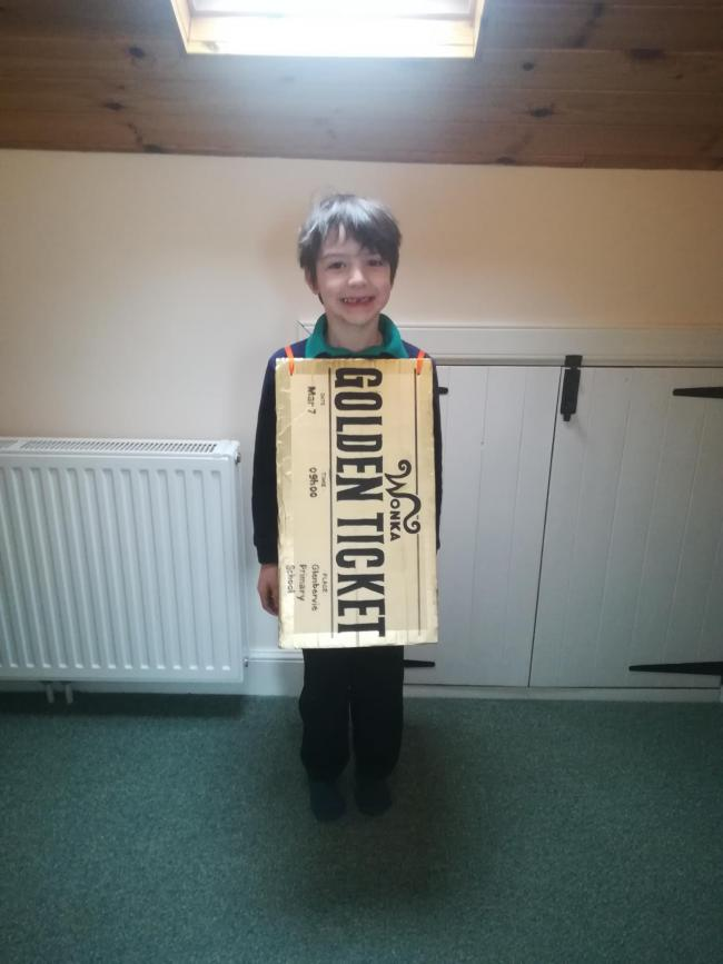 Emma as The Bookworm - based in a true story Axl as The Golden Ticket - Charlie and the Chocolate factory