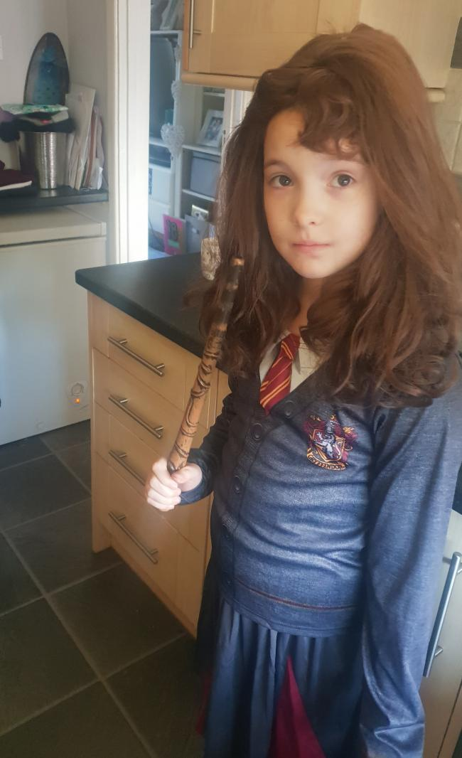 My daughter Leah as Hermione from Harry potter!