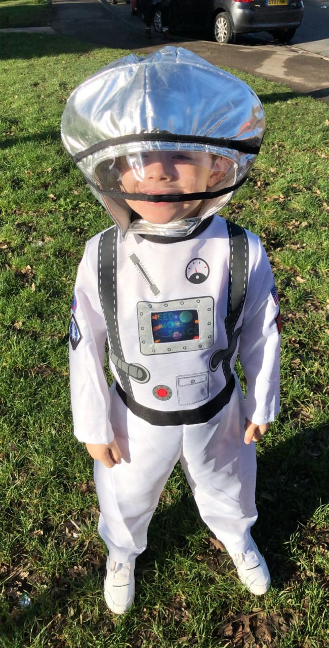World book day! 2019..Alfie dressed up as the space man