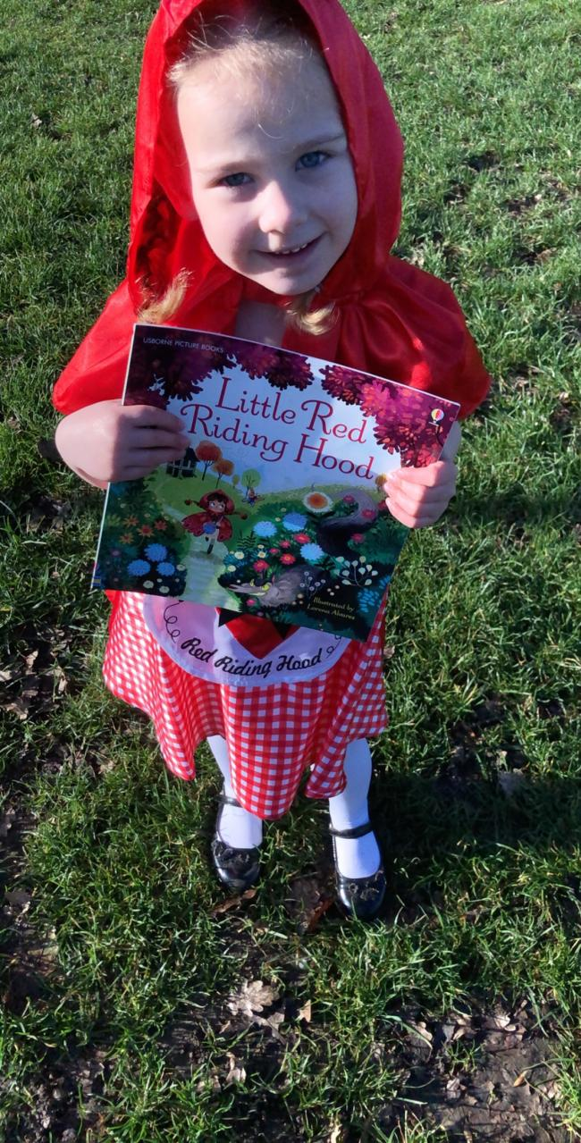 World book day 2019 daisy as little red riding hood