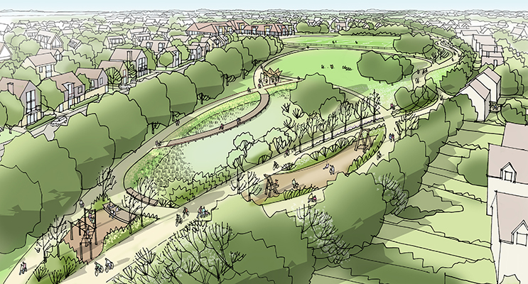 How Homes England hopes the Chalgrove Airfield site will look
