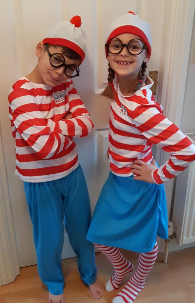 Wally and Wenda aka Joe and Emily Belton age 10 and 7 from Didcot.