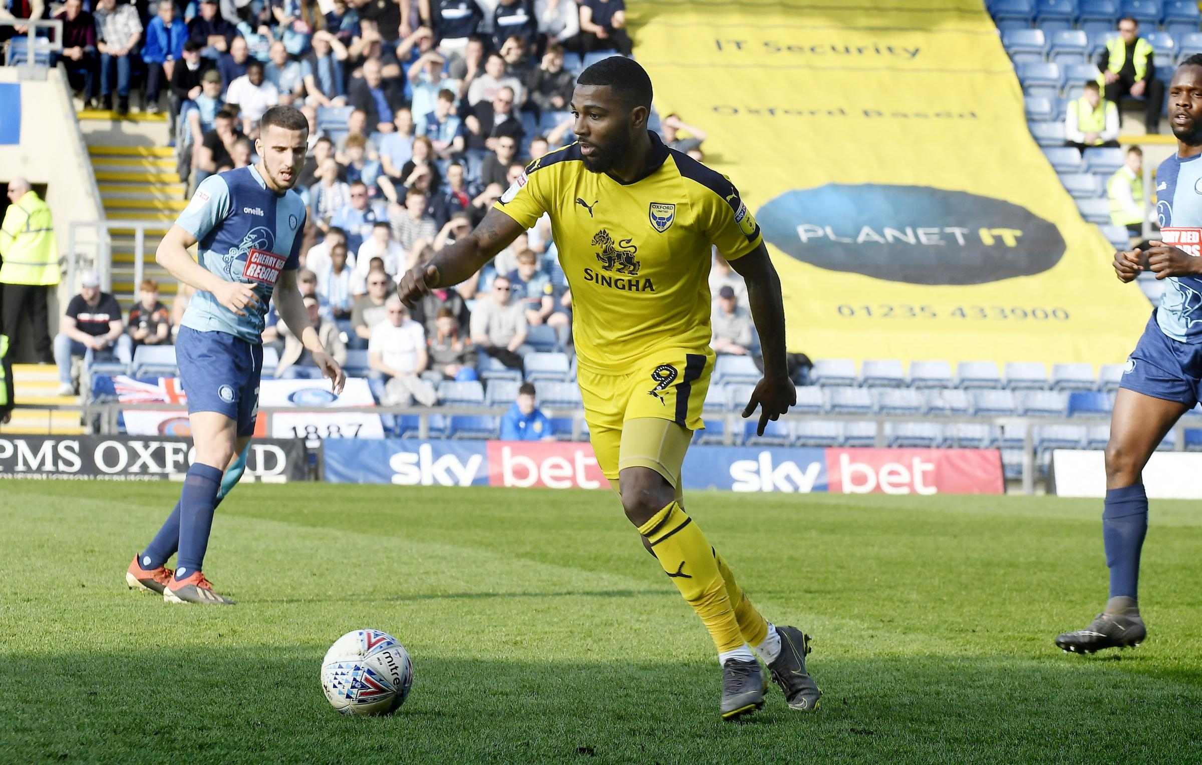 Jerome Sinclair in action against Wycombe Wanderers last weekend  Picture: David Fleming