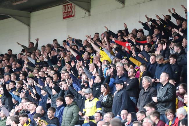 Oxford United fans on the road last season  Picture: James Williamson
