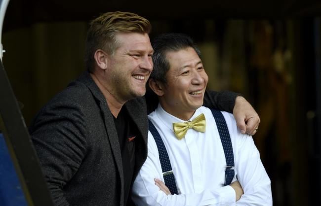 Oxford United head coach Karl Robinson (left) has praised the level of transparency he has received from owner Sumrith Thanakarnjanasuth over transfers this summer. The pair are due to be part of an important recruitment meeting tomorrow