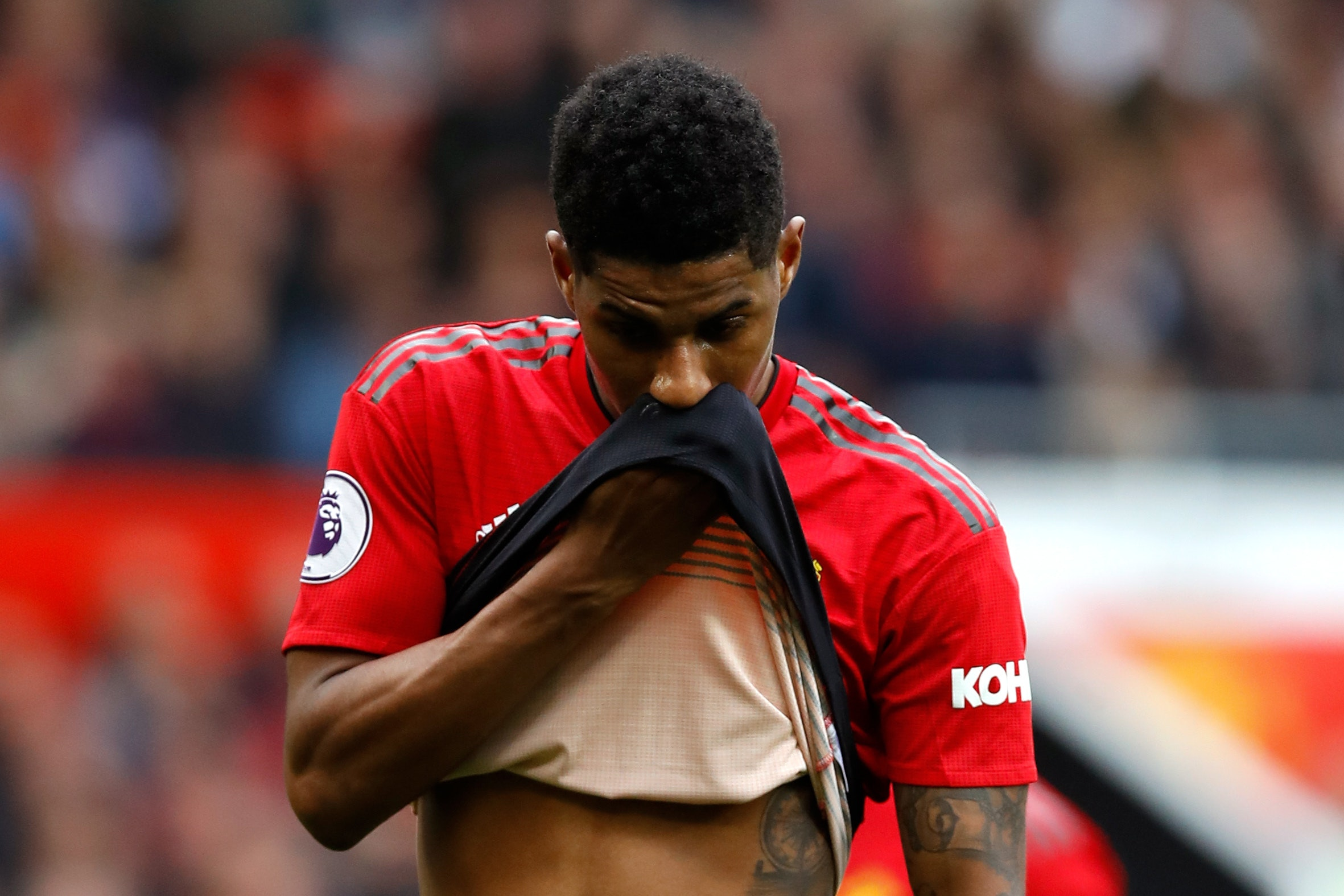 Marcus Rashford made no attempt to disguise United's poor season (Martin Rickett/PA)