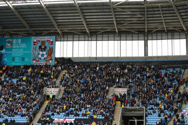 Oxford United fans at the Ricoh Arena last season Picture: James Williamson